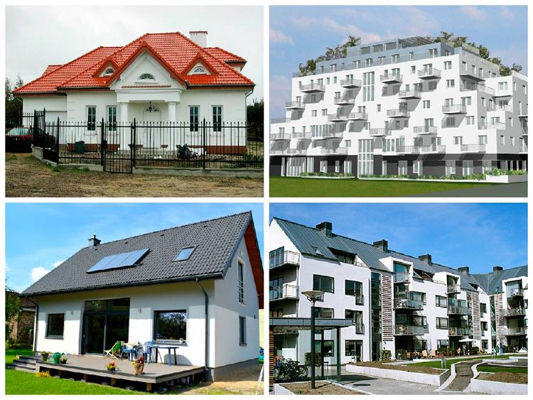 Примеры готовых домов и зданий со стеновыми панелями