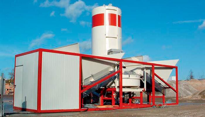 Мобильный завод по производству бетона Sumab K-30