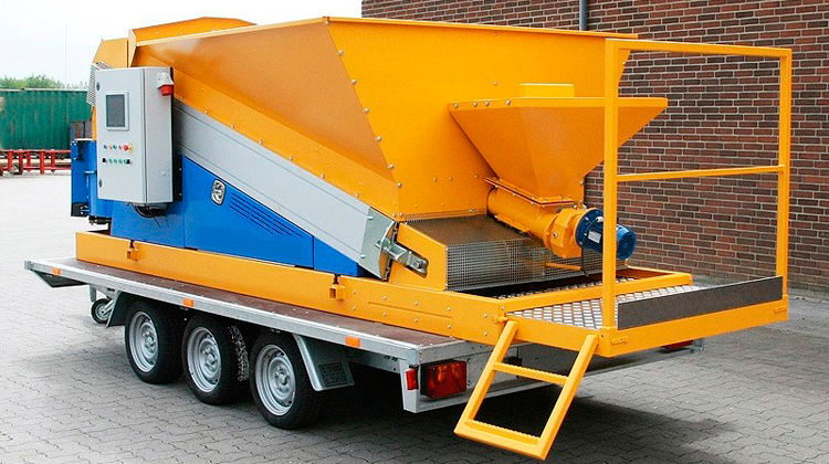 Перевозка мобильного бетонного завода Sumab Mini
